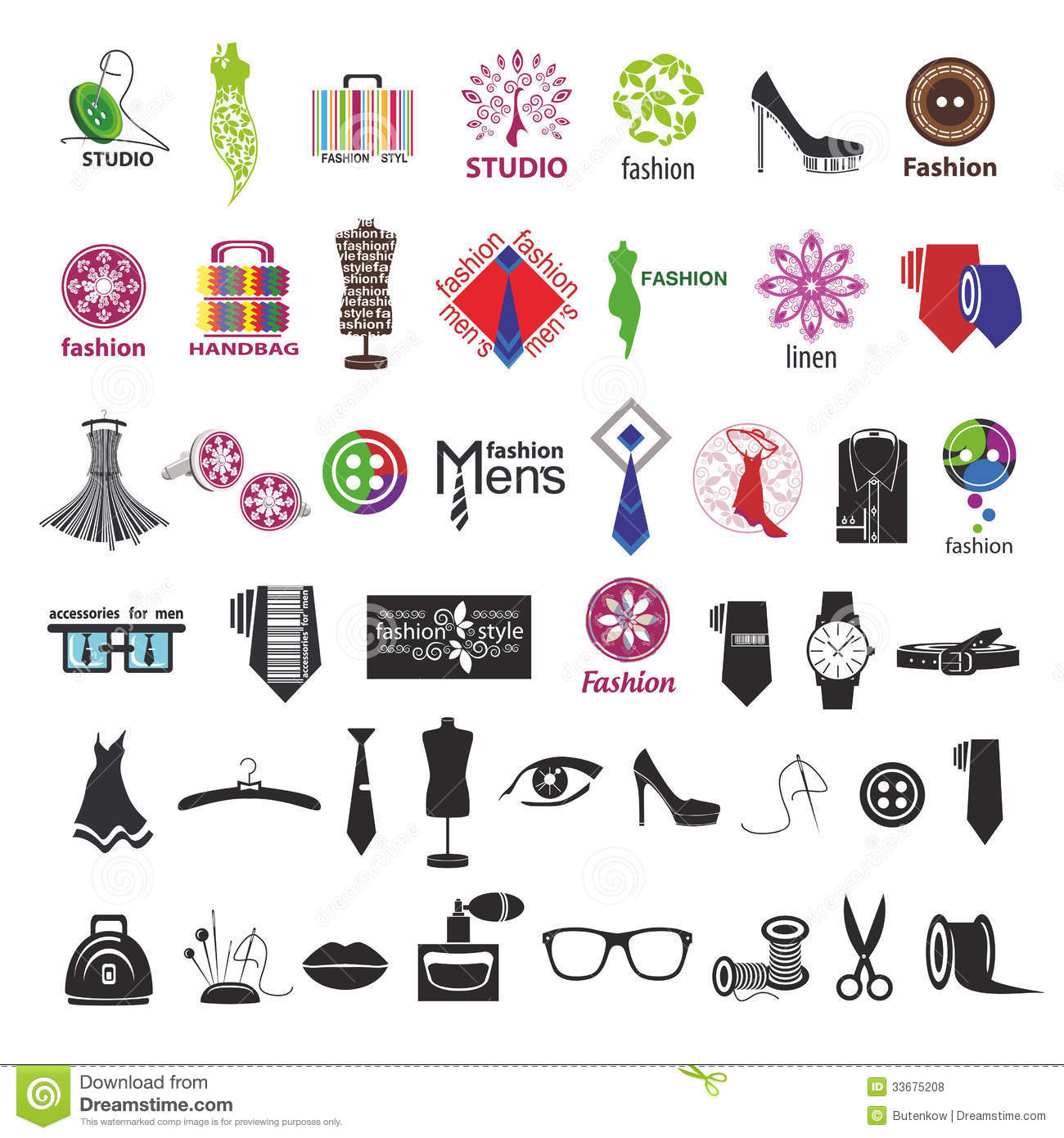 Vector Logos For Clothing And Fashion Accessories Stock