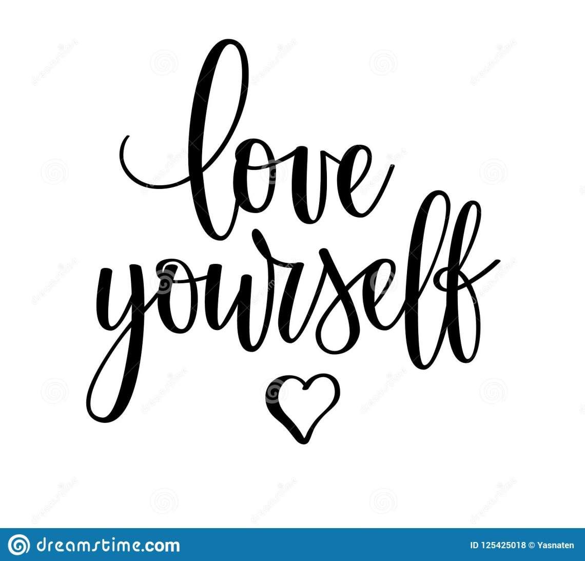 Download Vector Love Yourself Motivational Inspirational Lettering ...