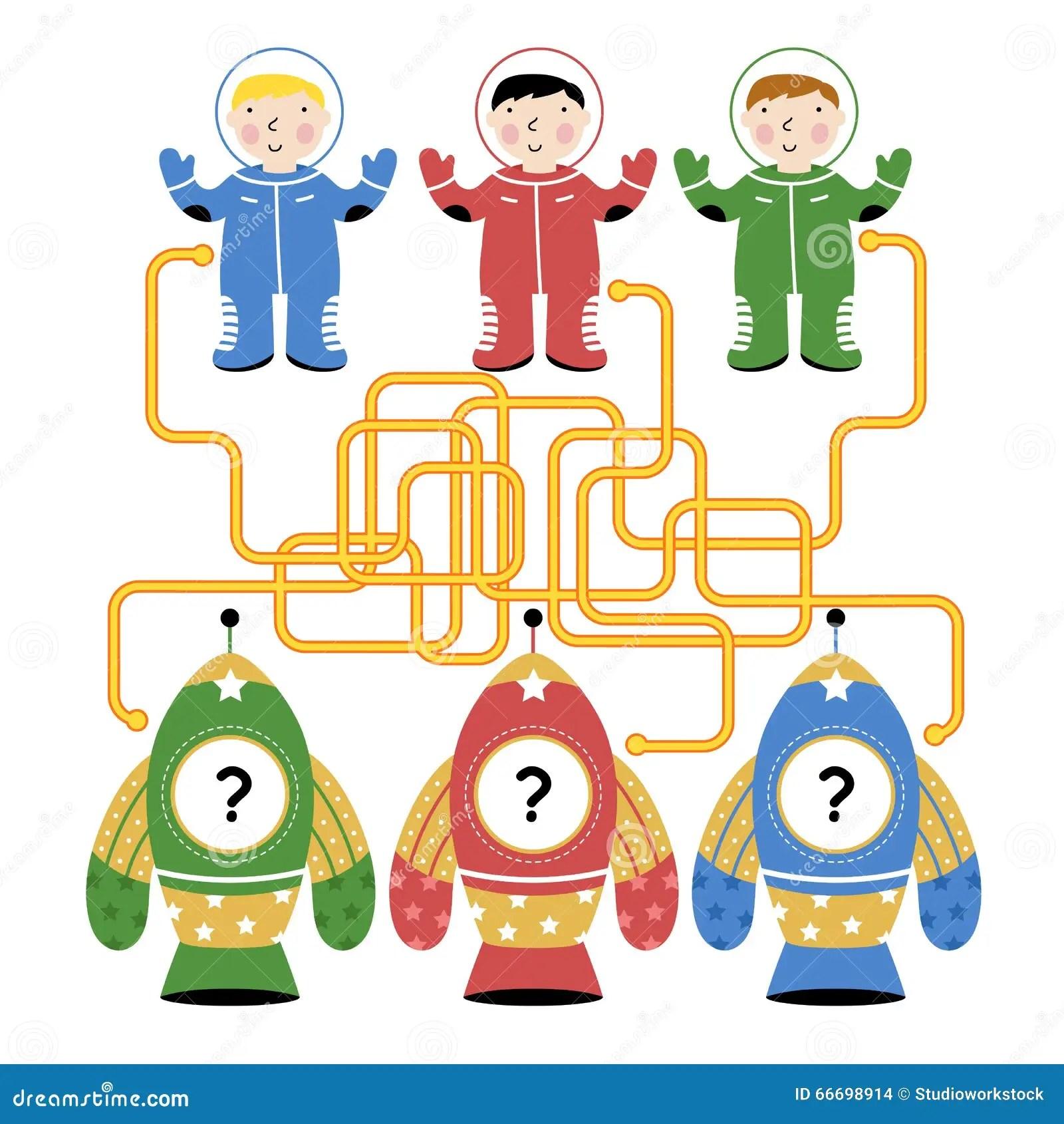 Vector Maze Logic Game For Kids Stock Vector