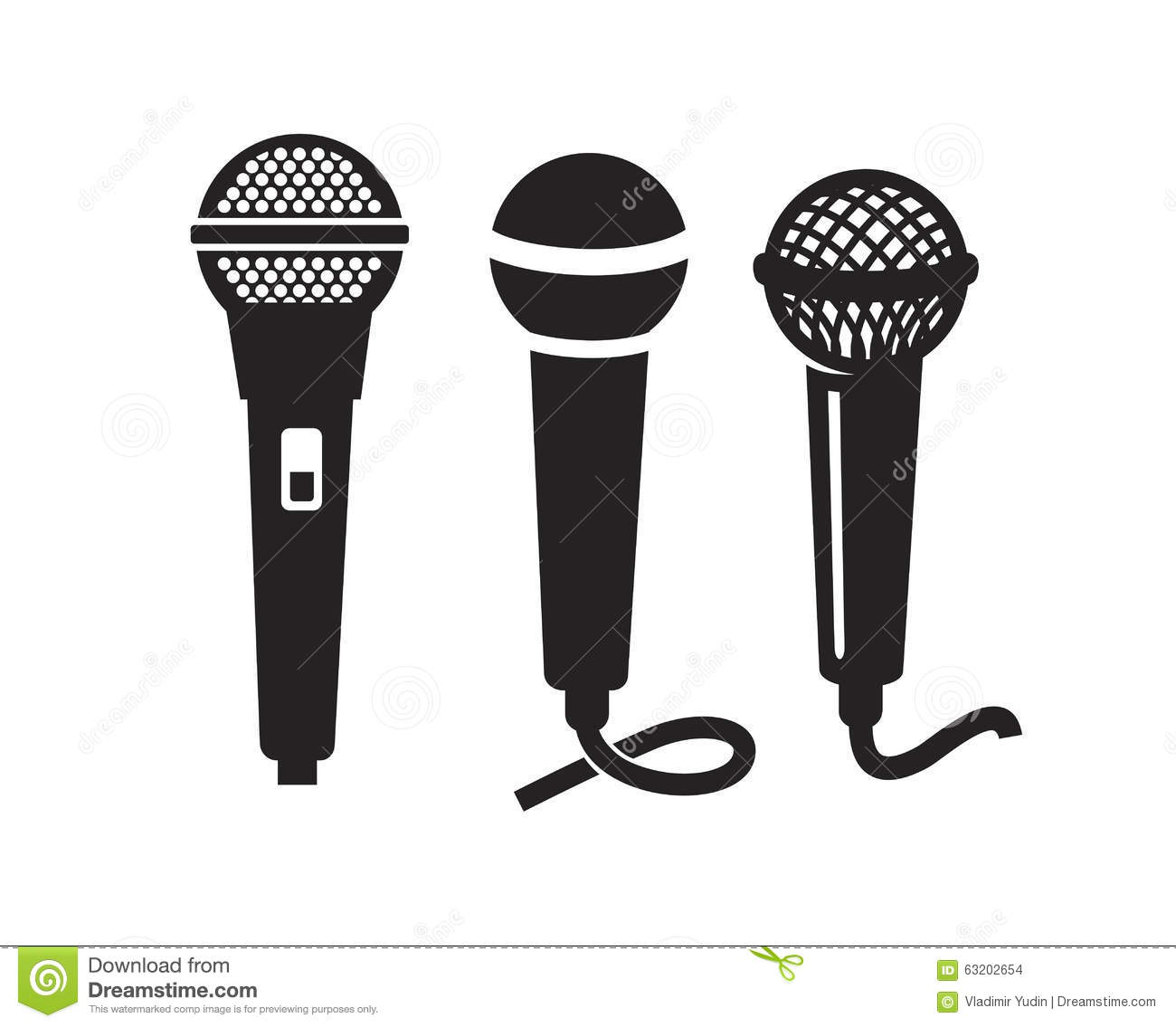 Microphone Icon In Black Style Isolated On White