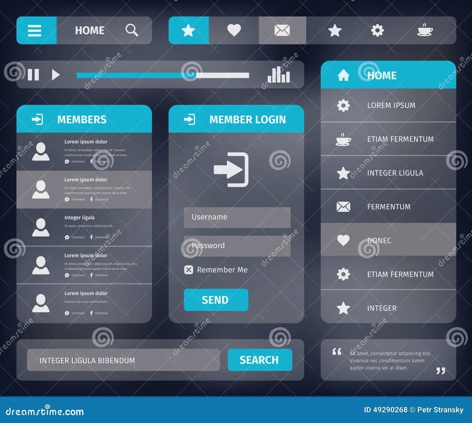 interface template twitter website in material design inspiration . mobile or web user design vector eps