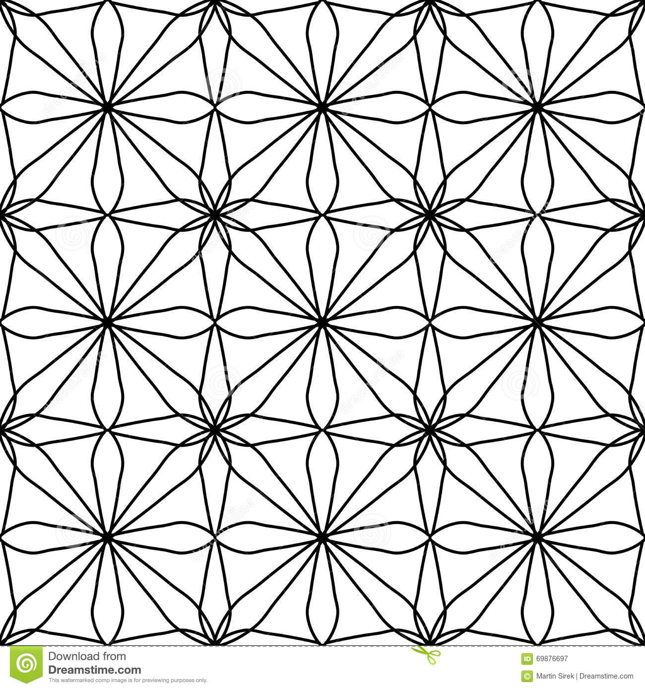 Vector Modern Seamless Geometry Pattern Square Floral