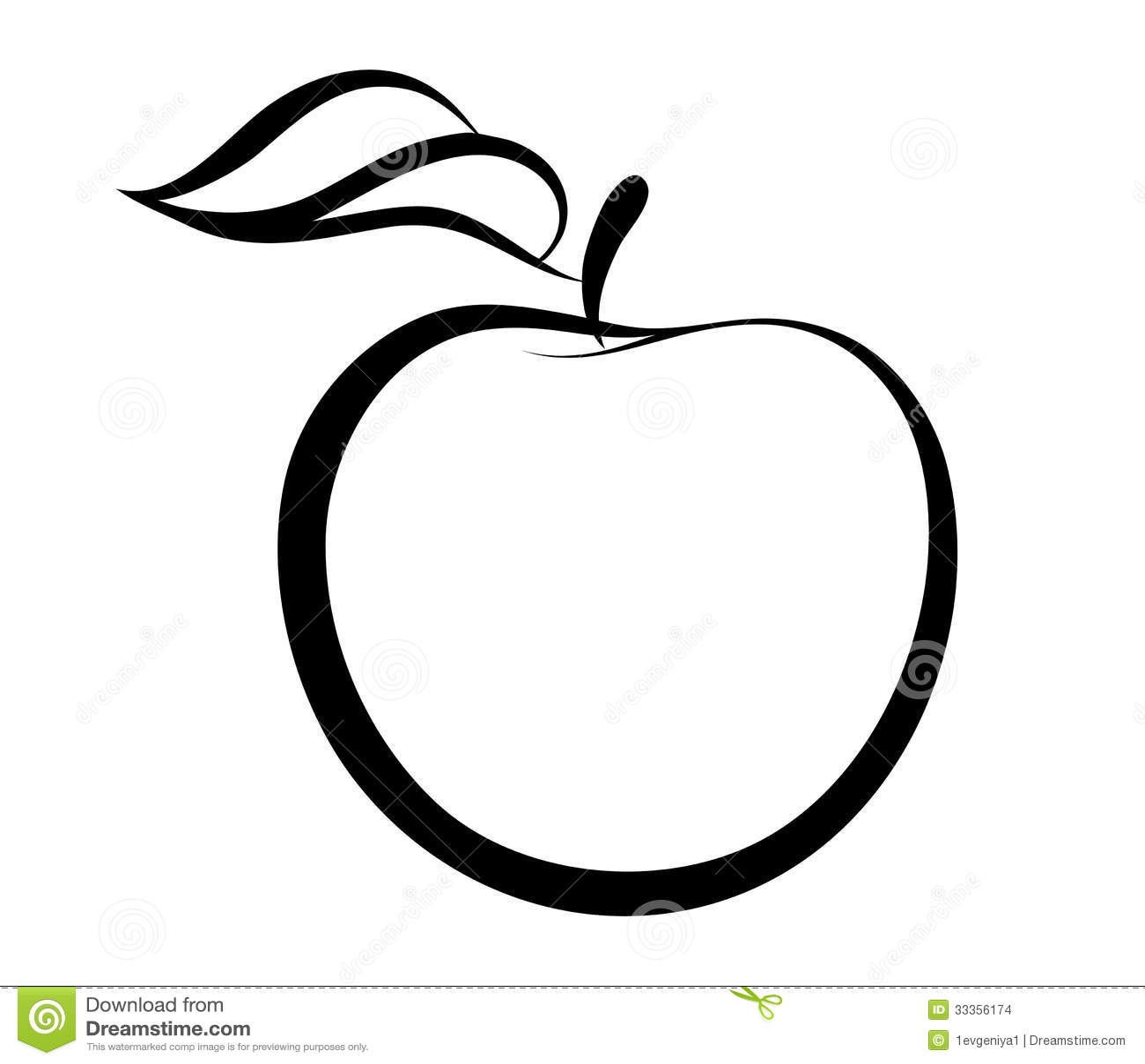 Vector Monochrome Illustration Of Apple Logo Stock Images