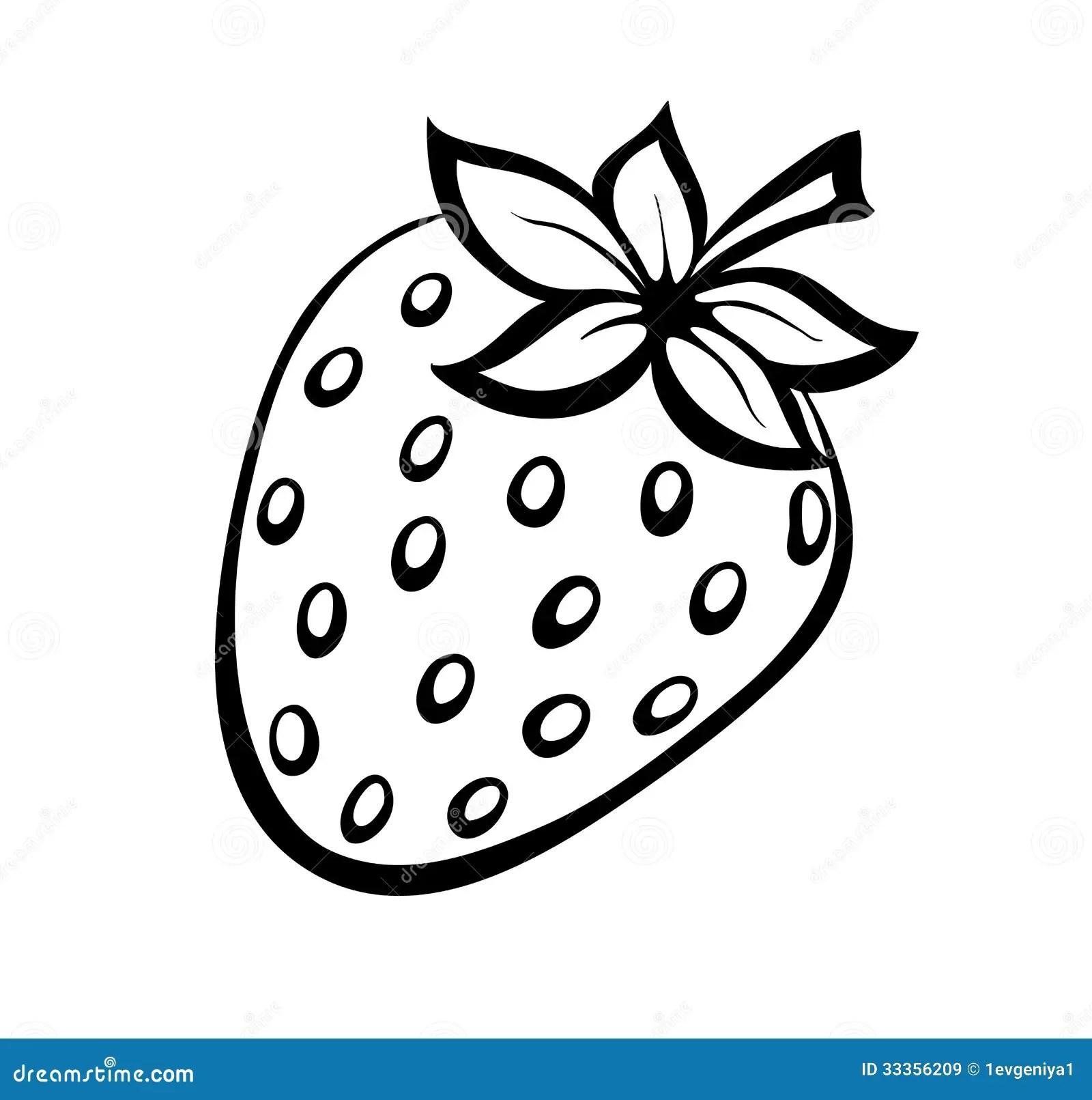 Vector Monochrome Illustration Of Strawberries Logo Stock
