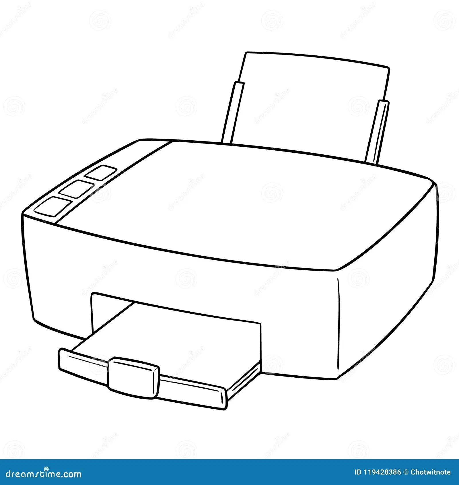 vector of printer stock vector illustration of draw