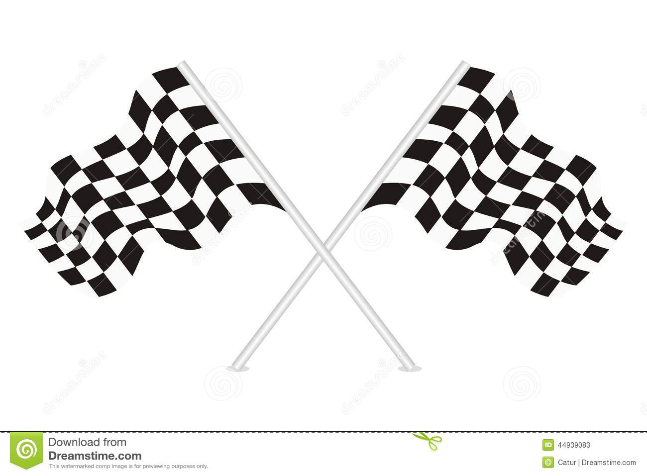 Vector Of Racing Flags Stock Vector