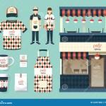 Vector Restaurant Cafe Set Shop Front Design Flyer Menu Illustration 54497800 Megapixl