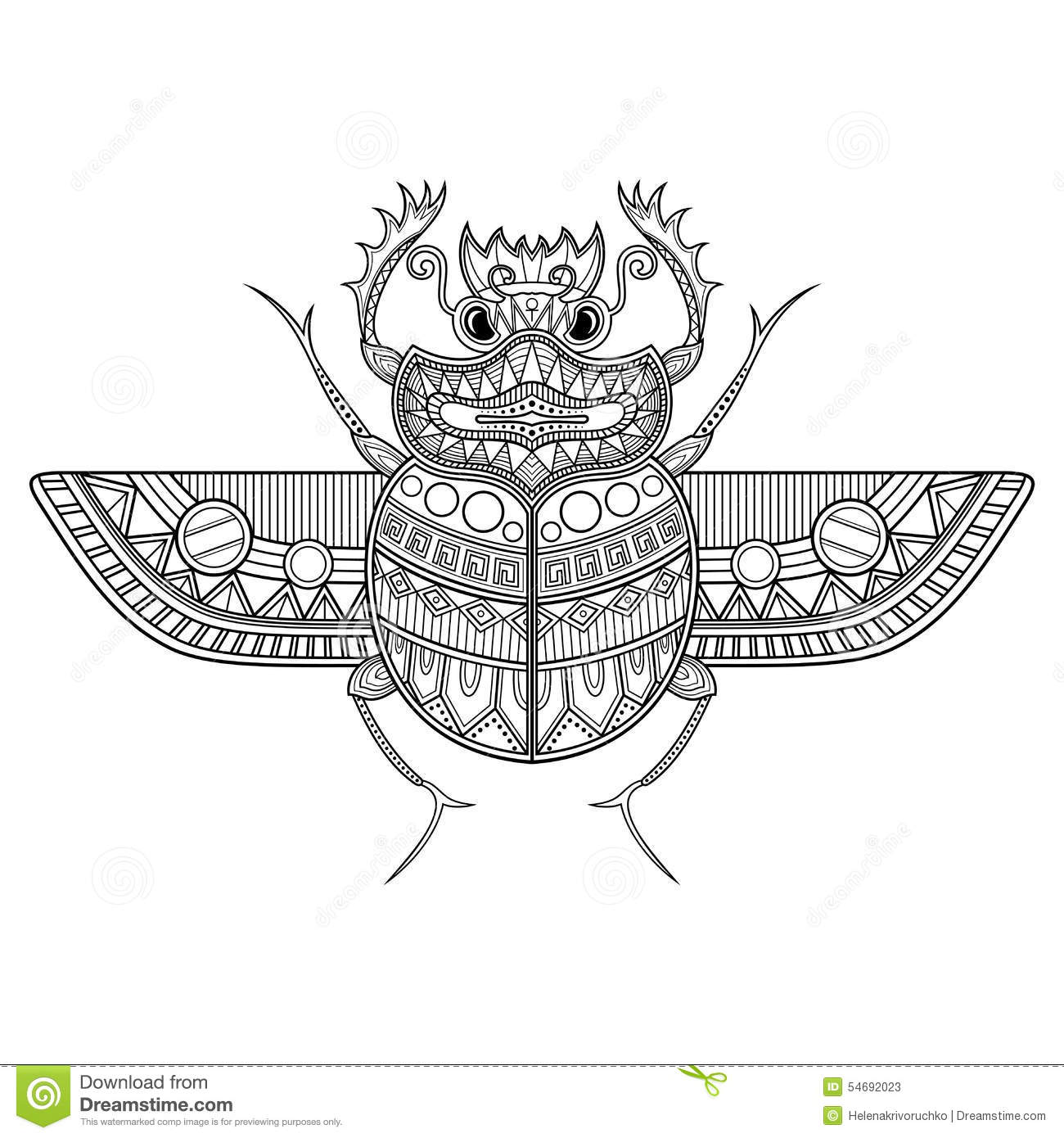 Vector Scarab Beetle Stock Vector