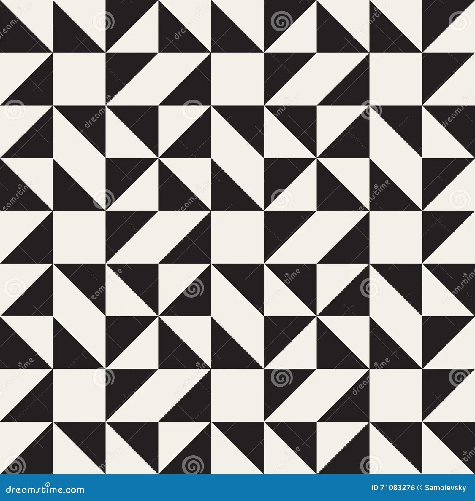 Vector Seamless Black And White Geometric Square Triangle
