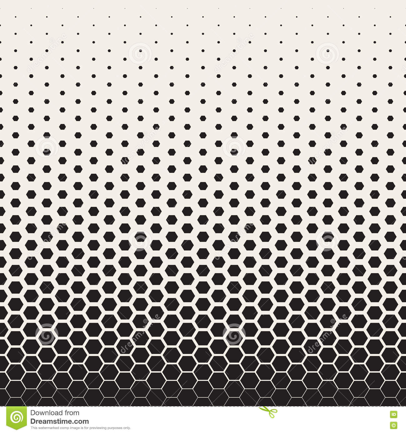 Vector Seamless Black And White Transition Halftone