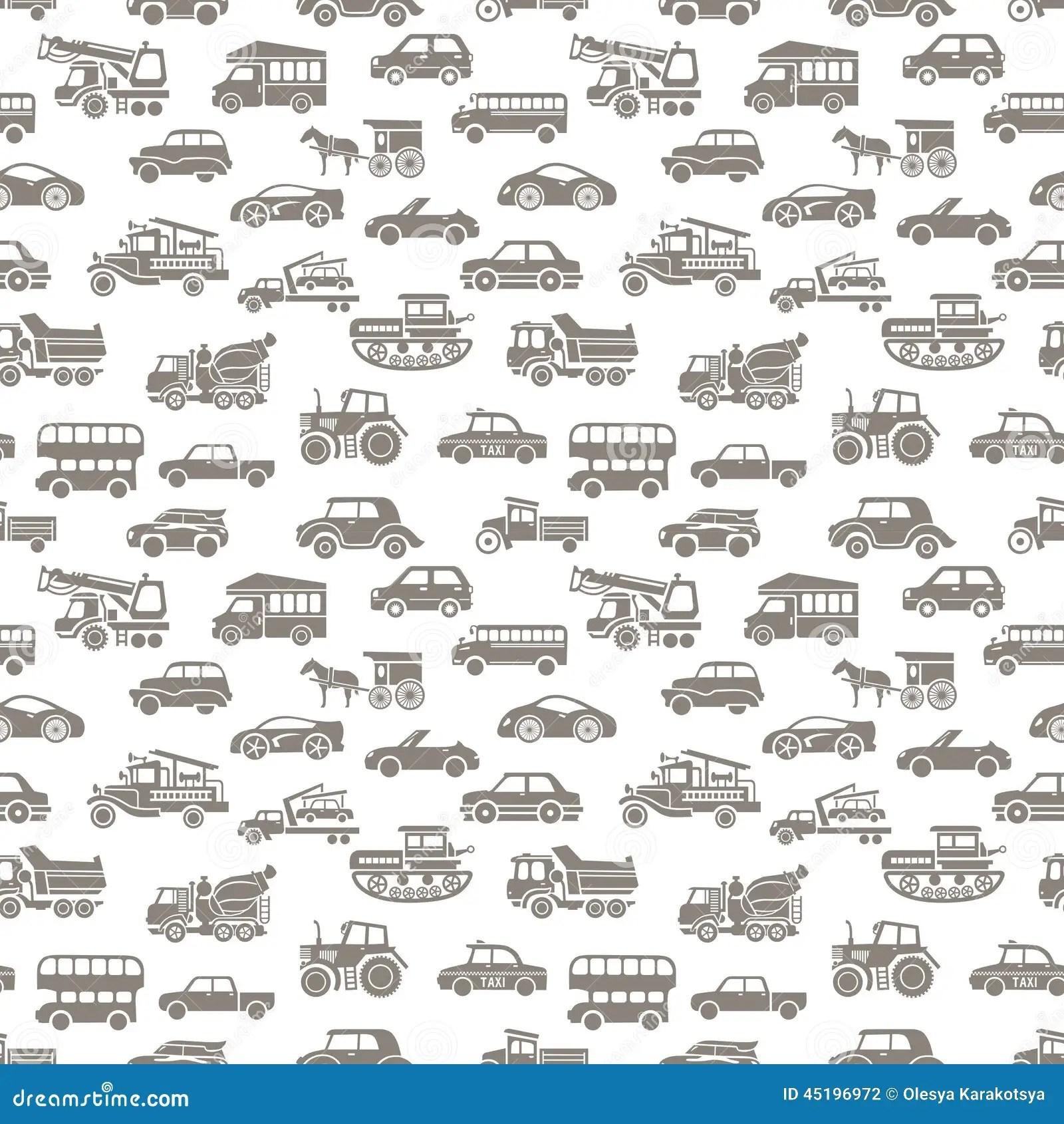Vector Seamless Car Pattern Stock Vector