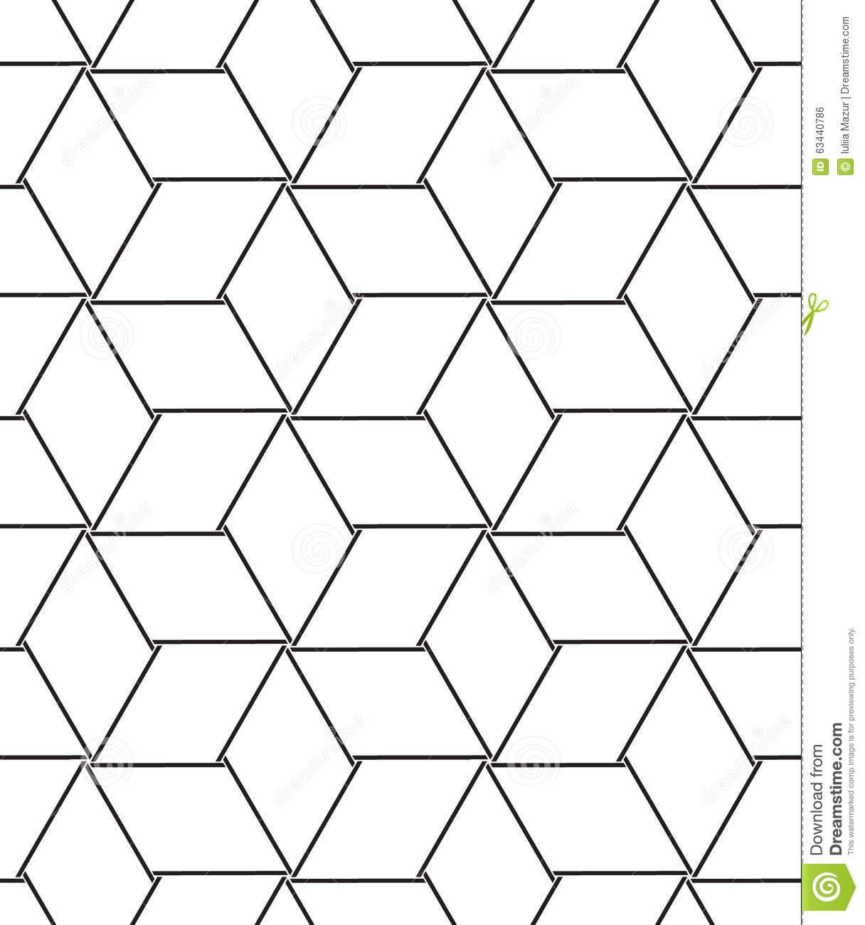 Vector Seamless Pattern Modern Line Geometric Background