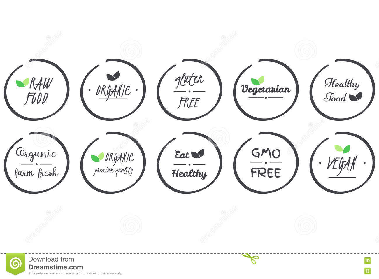 Vector Set Of Icvector Set Of Icons Of Organic Healthy