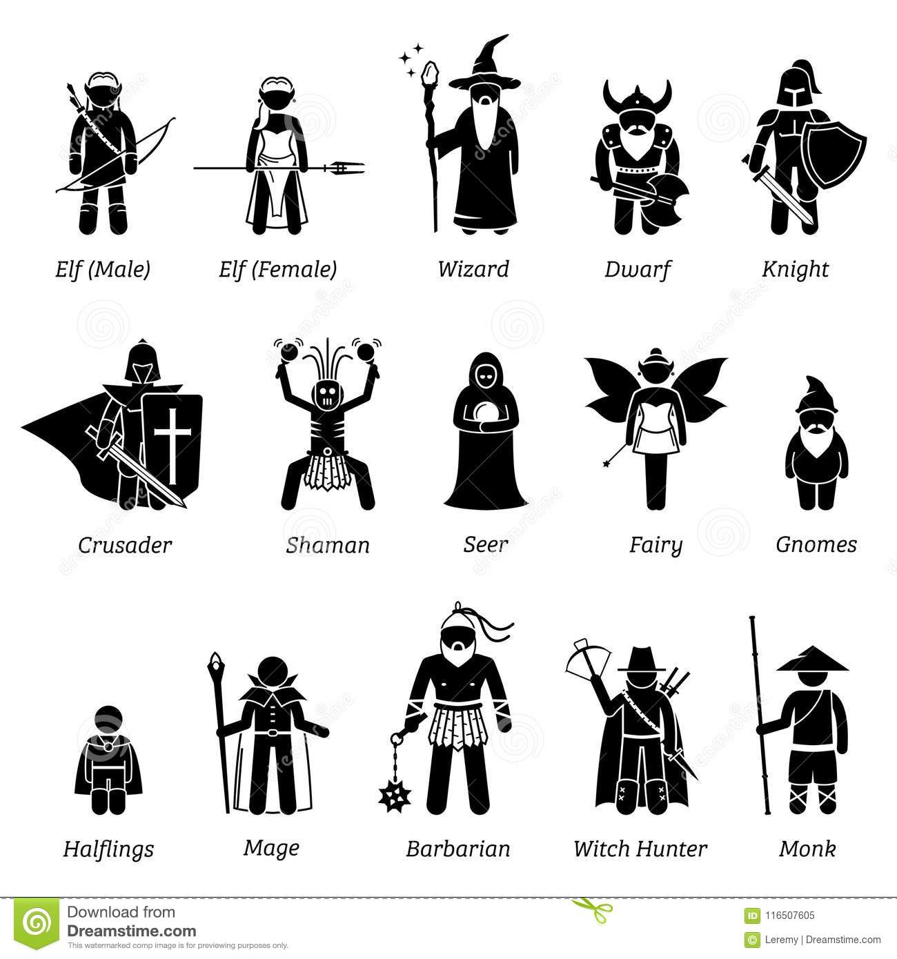 Ancient Me Val Fantasy Characters Classes And Warriors
