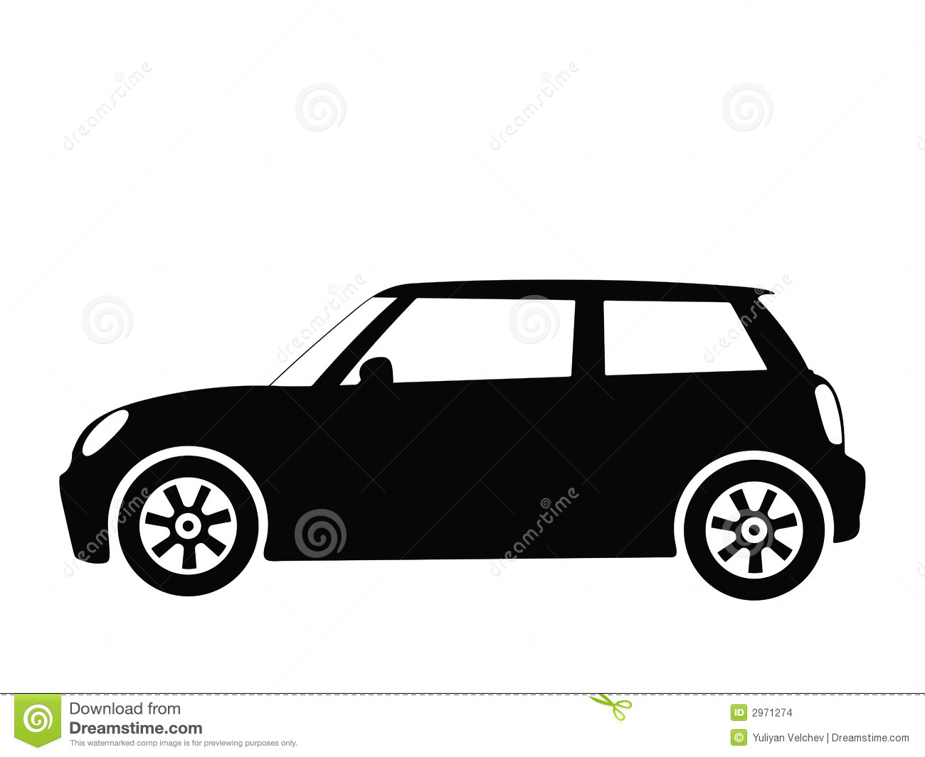 Vector Small Car 2 Stock Vector Illustration Of Cars