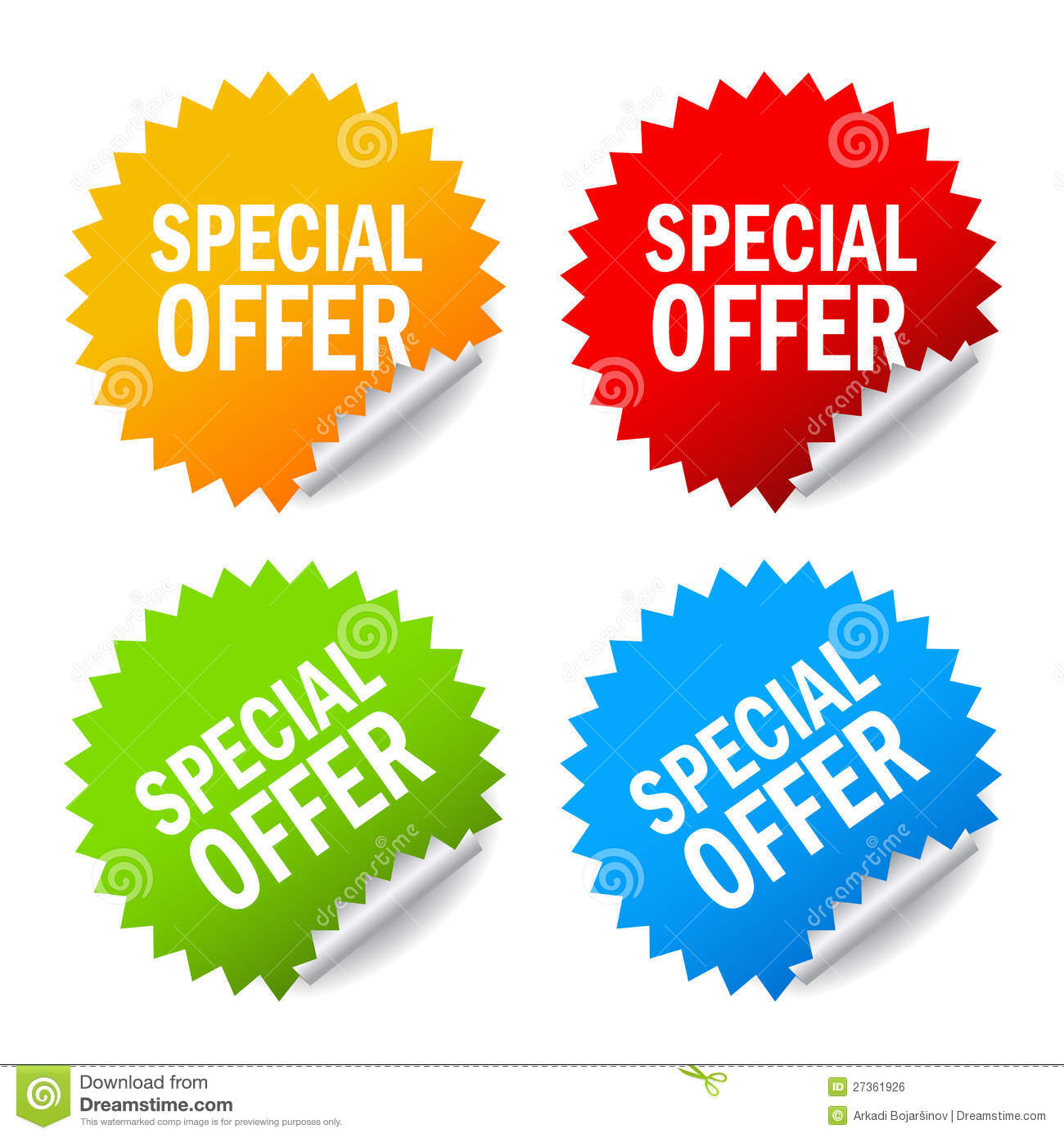 Vector Special Offer Royalty Free Stock Image Image