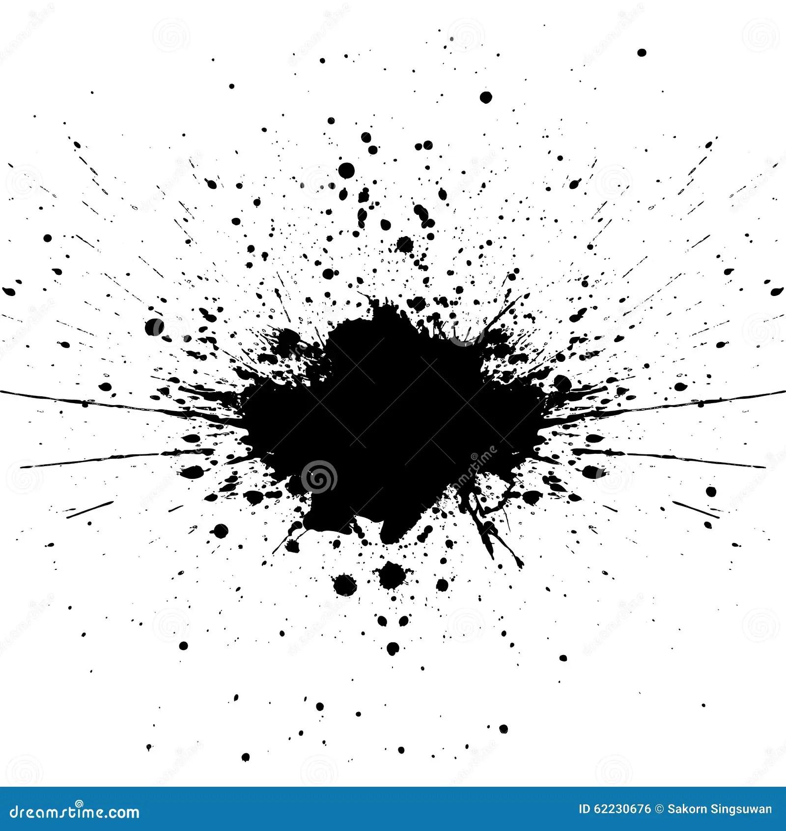 Vector Splatter Black Color Background Illustration