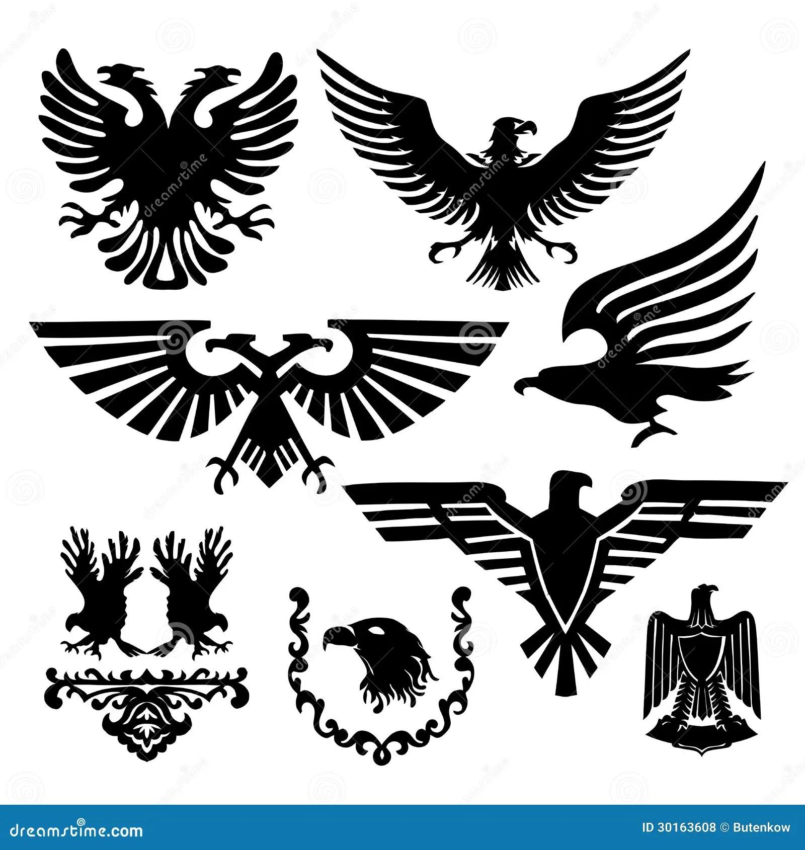 Eagle Heraldry Coat Of Arms Cartoon Vector