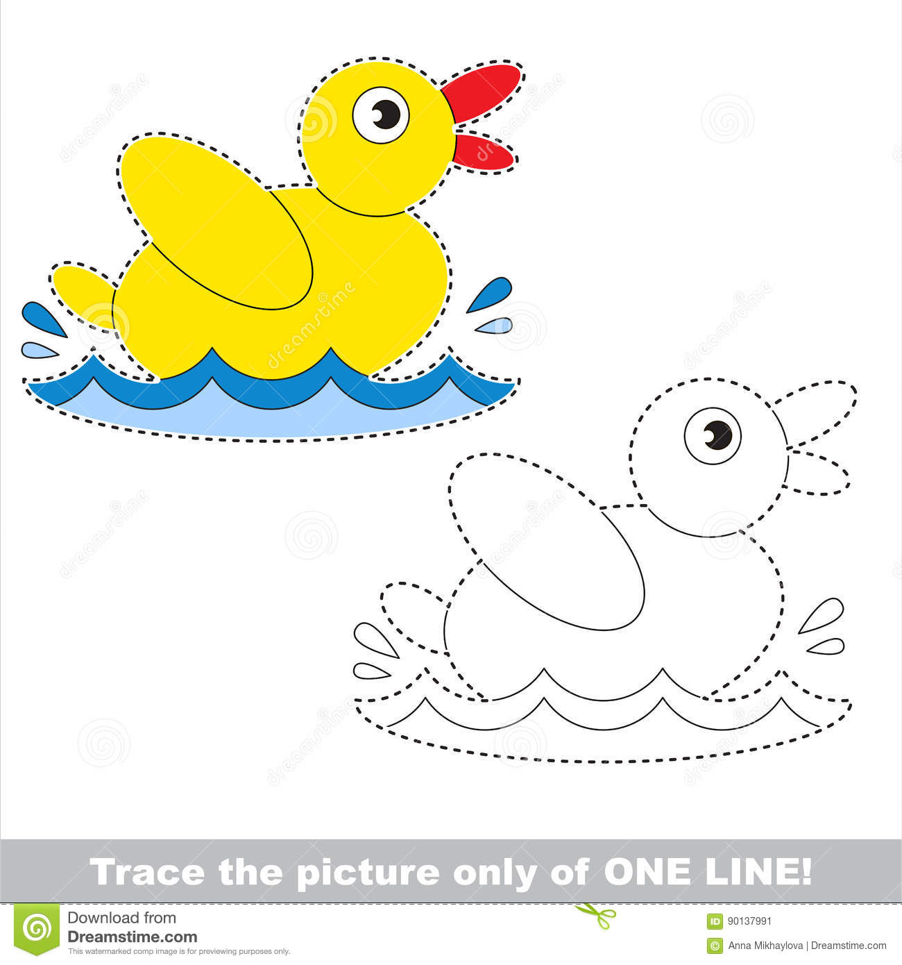 Vector Tracing Educational Game For Preschool Kids
