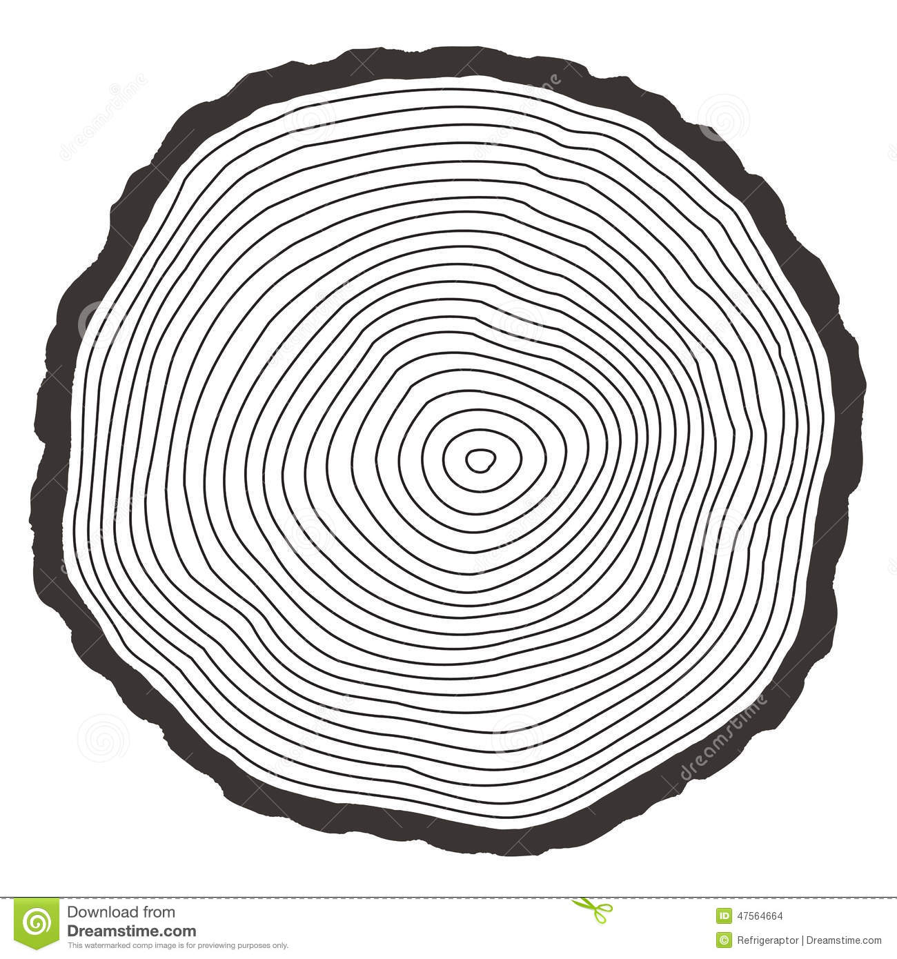 Vector Tree Rings Stock Vector