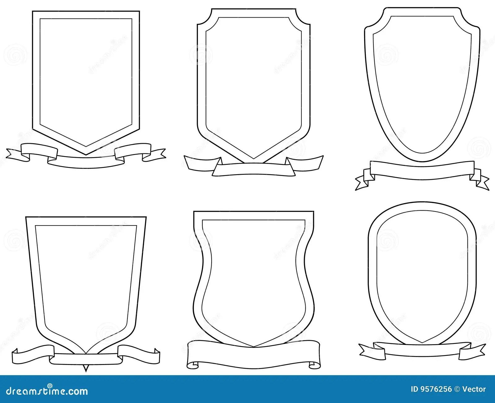 Vector Wappen Lizenzfreies Stockbild