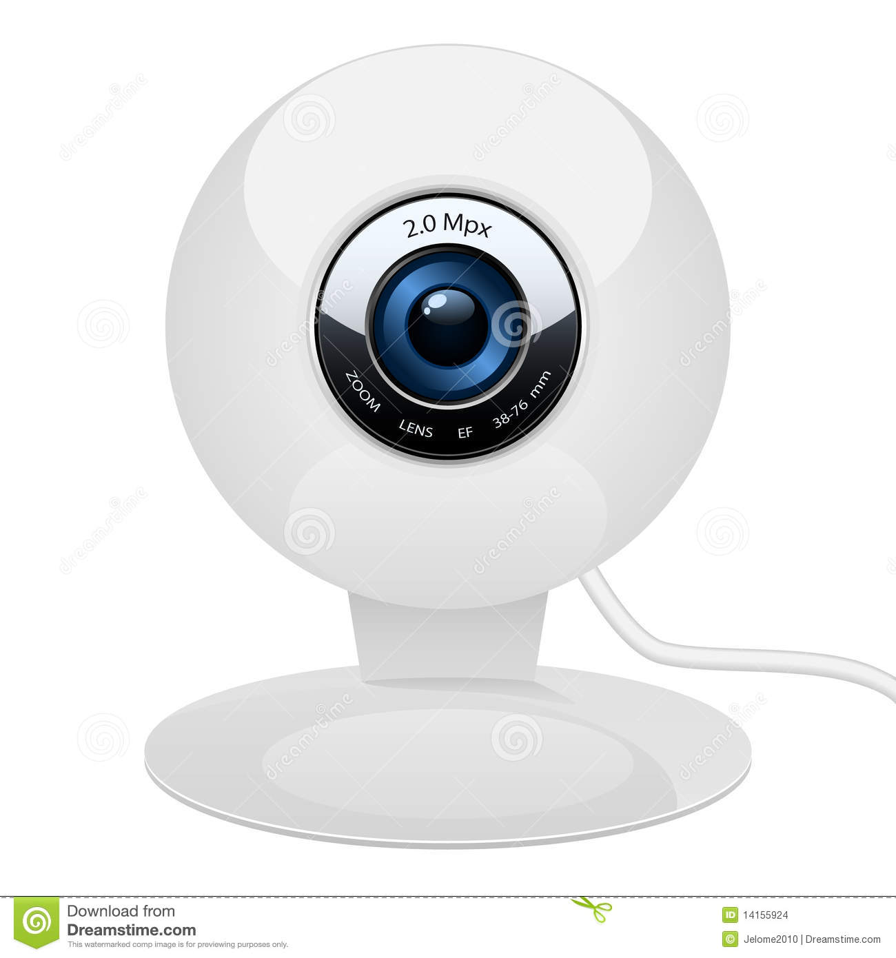 vector illustration of web camera in beautiful and clean design