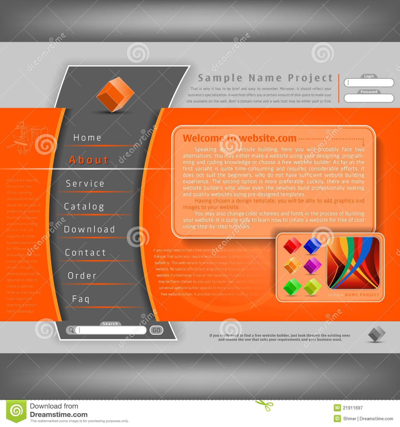 Vector Website Design Template Stock Vector