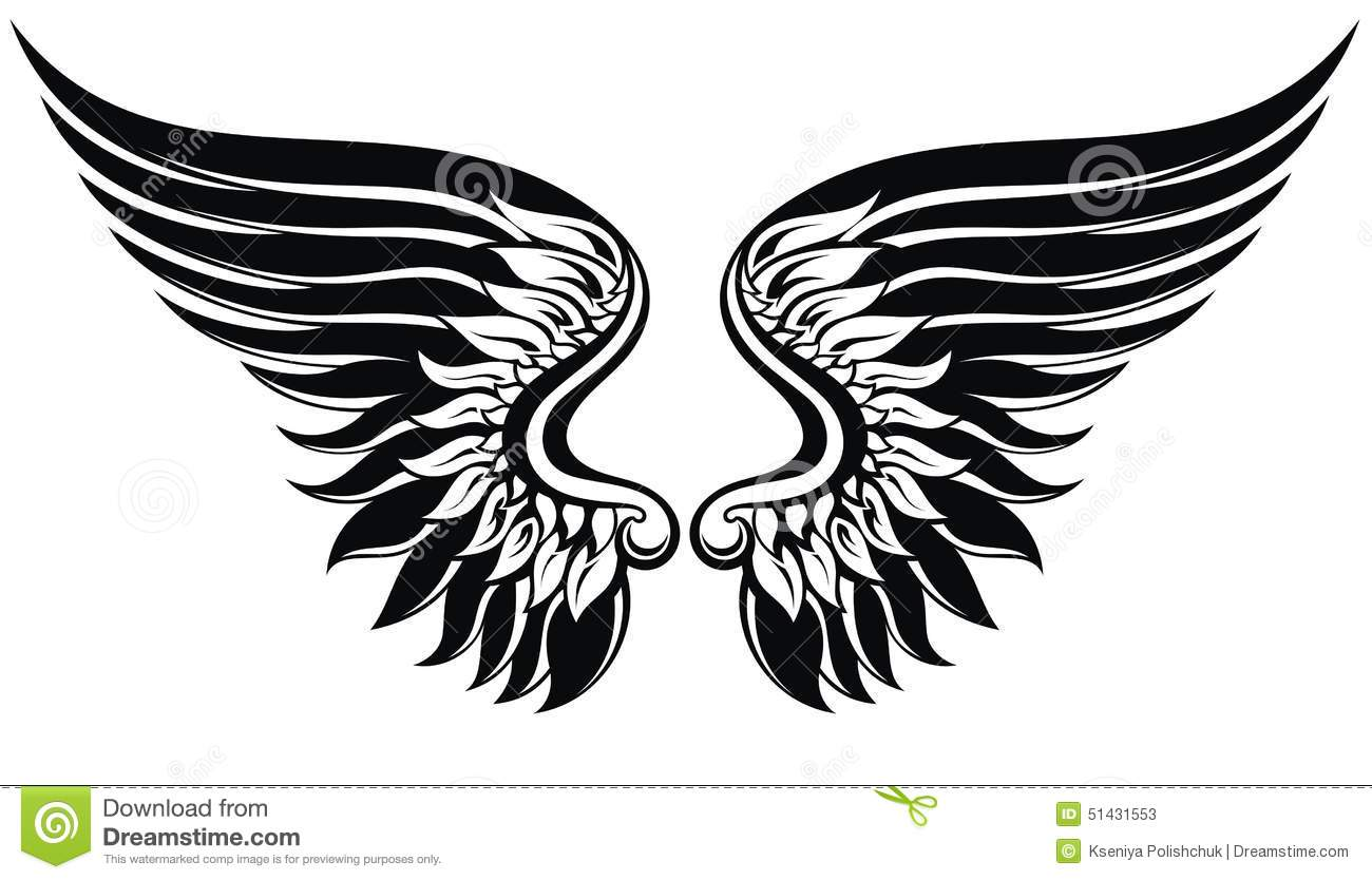 Vector Wings Illustration Stock Vector
