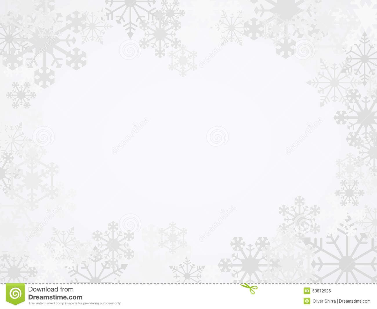 Vector Winter Snowflake Background Stock Vector