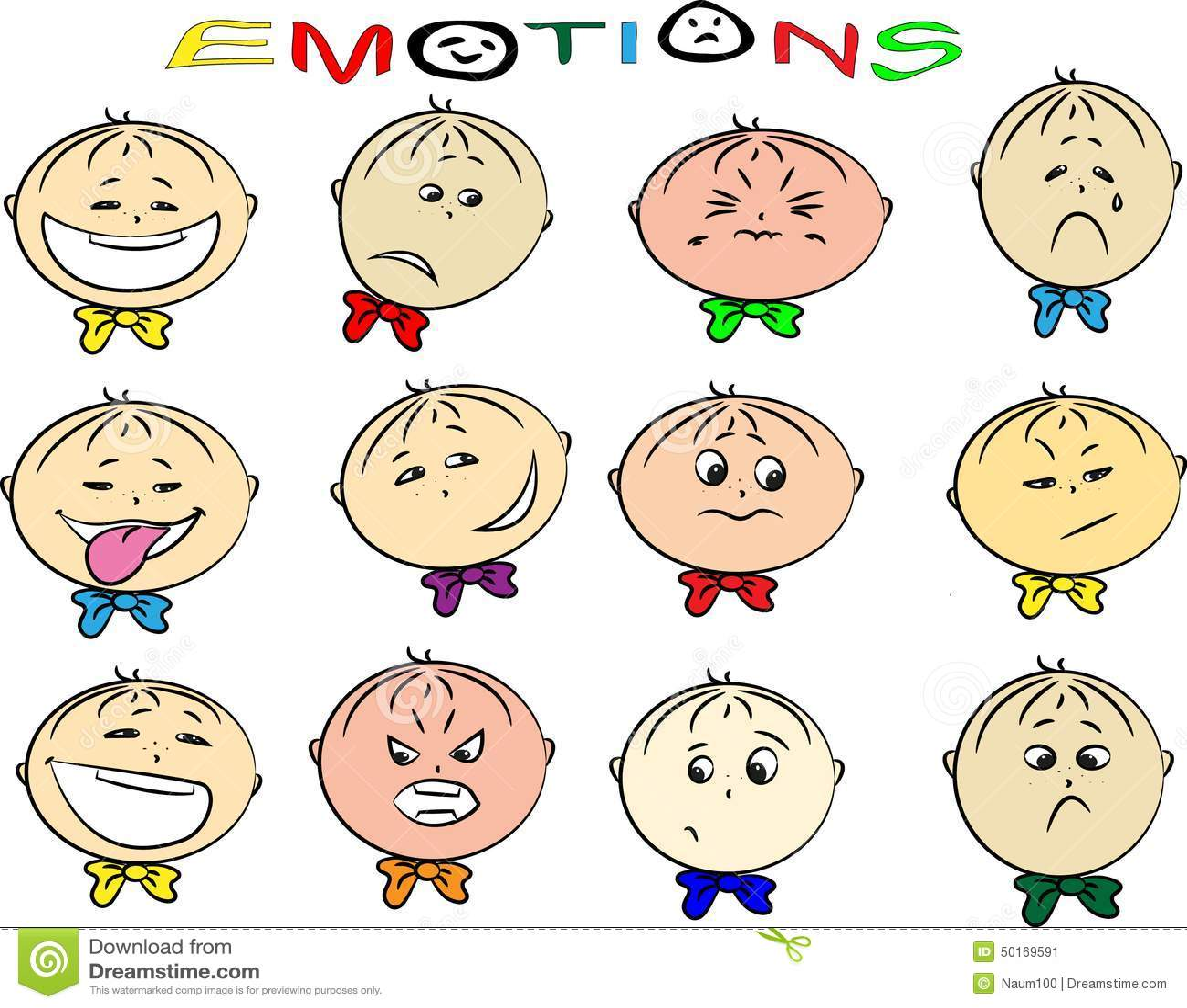 Vectorillustratie Van De Emoties Van Kinderen Vector