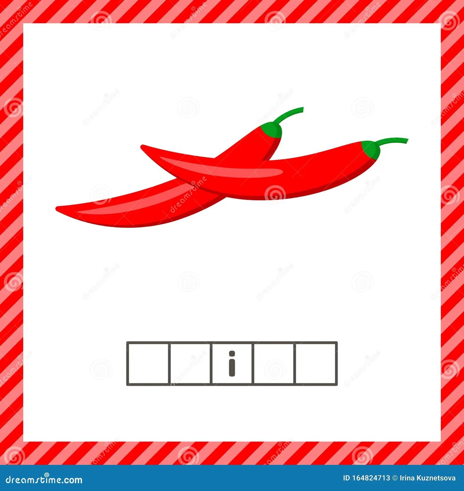 Vegetable Chili Pepper Educational Logic Worksheet For