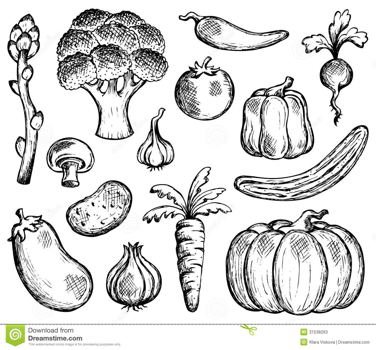 Vegetable Theme Collection 2 Stock Vector