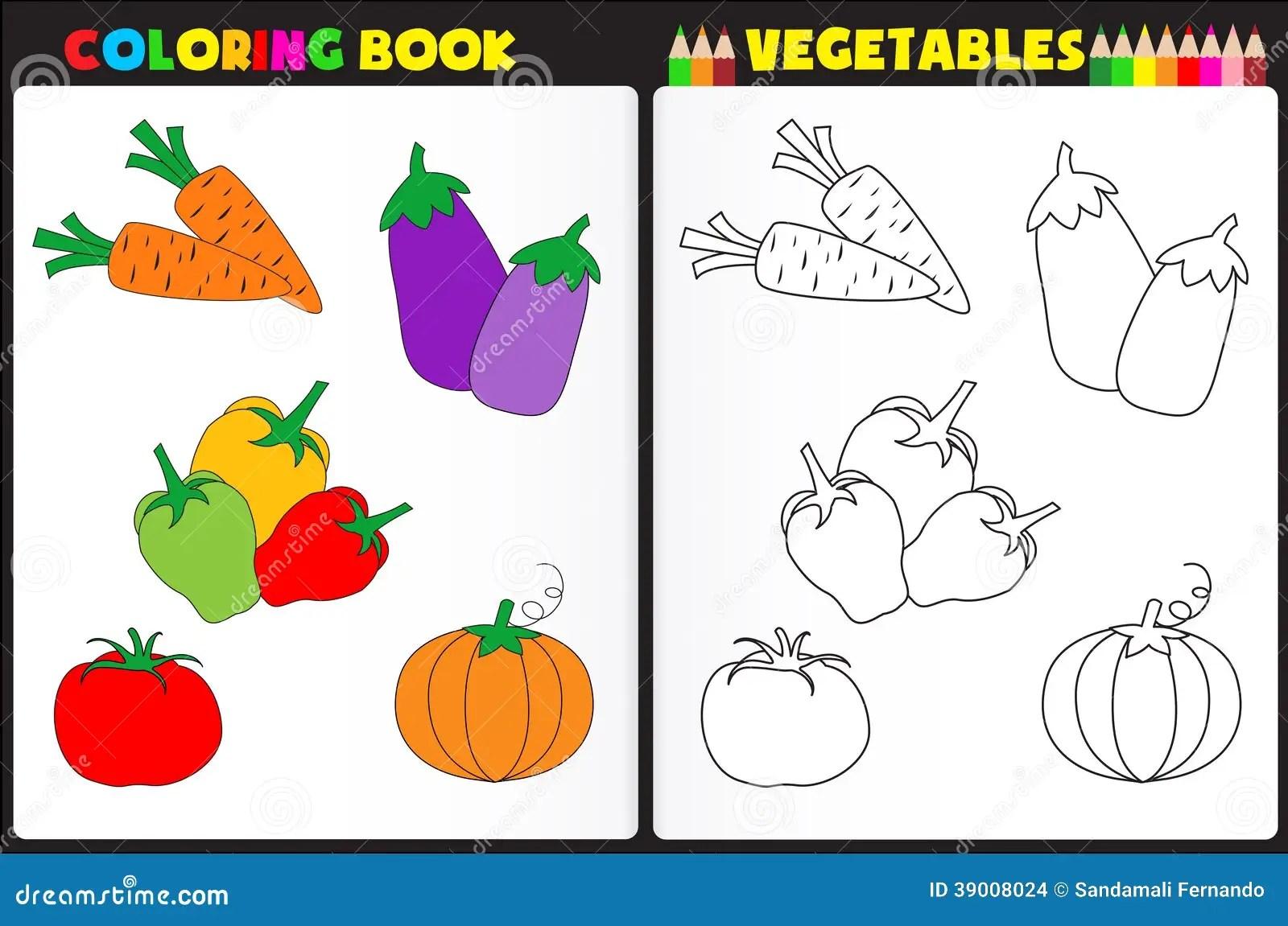 Vegetais Do Livro Para Colorir Ilustracao Do Vetor