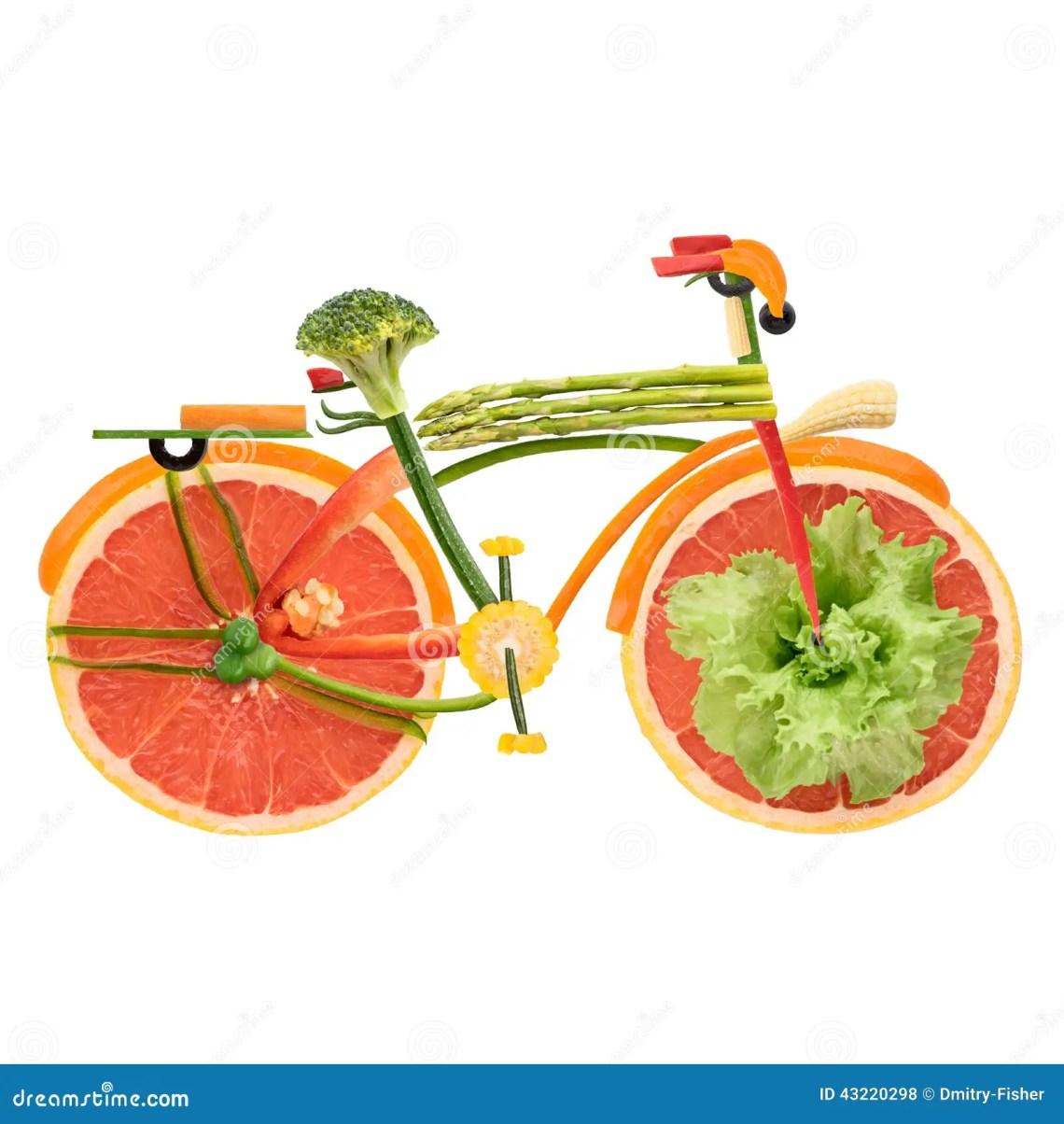 Veggie City Bike. Stock Photo - Image: 43220298