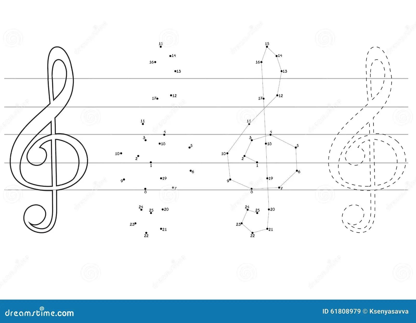Vektorutbildningslekar For Barn Om Musik Vektor