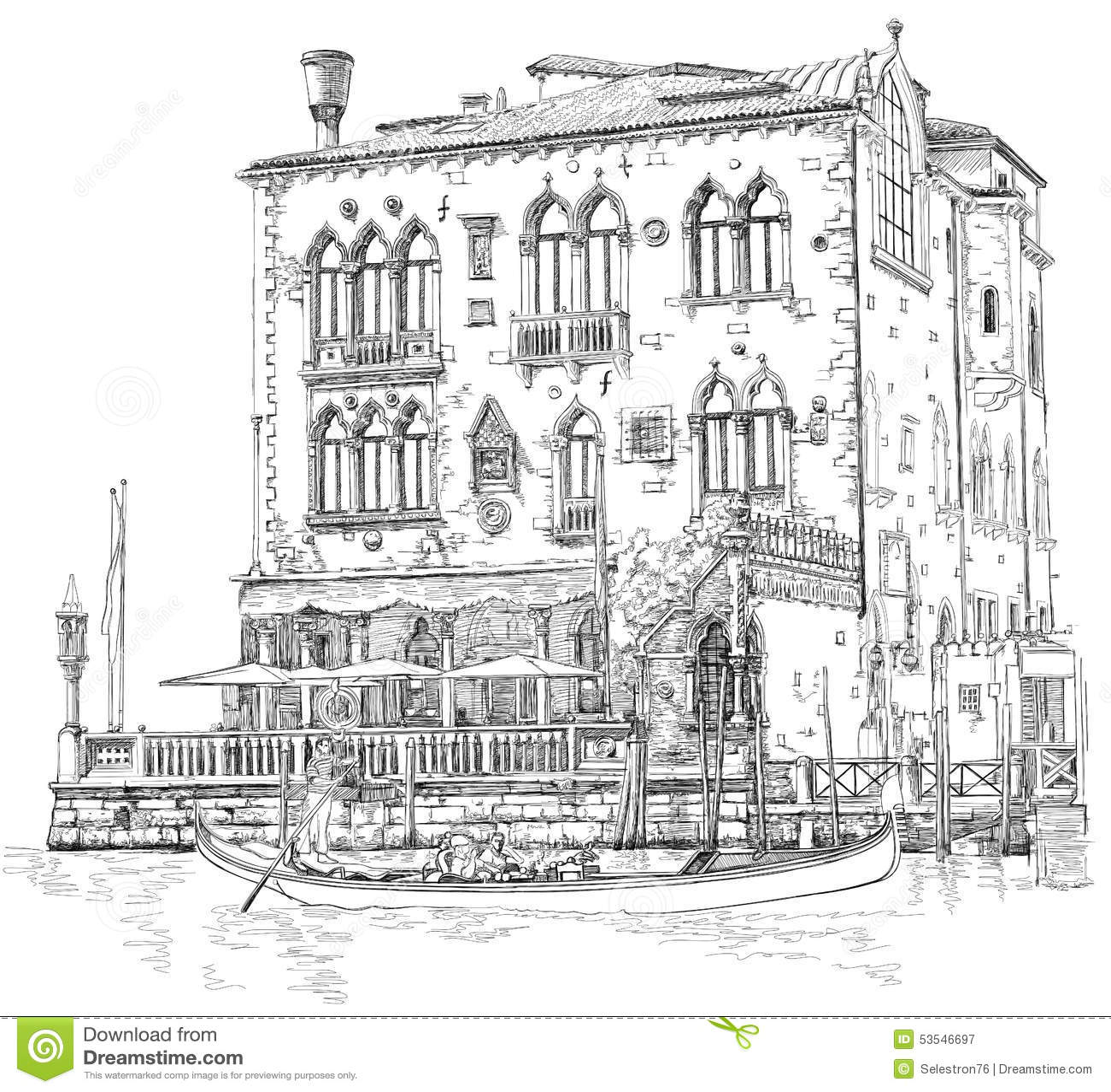 Venice Ancient Building Amp Gondola Stock Photo