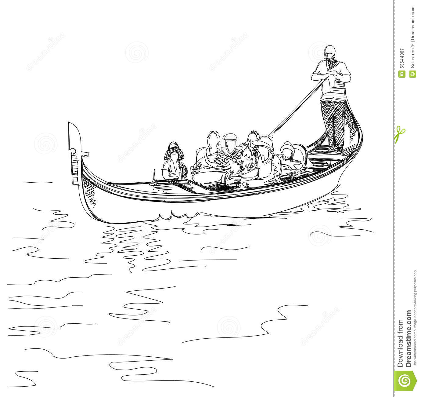 Venice Italy The Gondoliers Floats On A Gondola With
