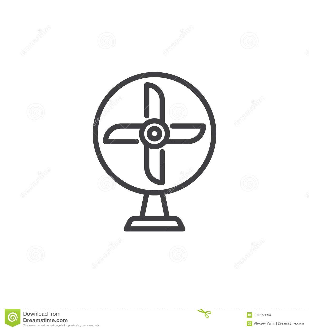 Ventilator Line Icon Stock Vector Image Of Electrical