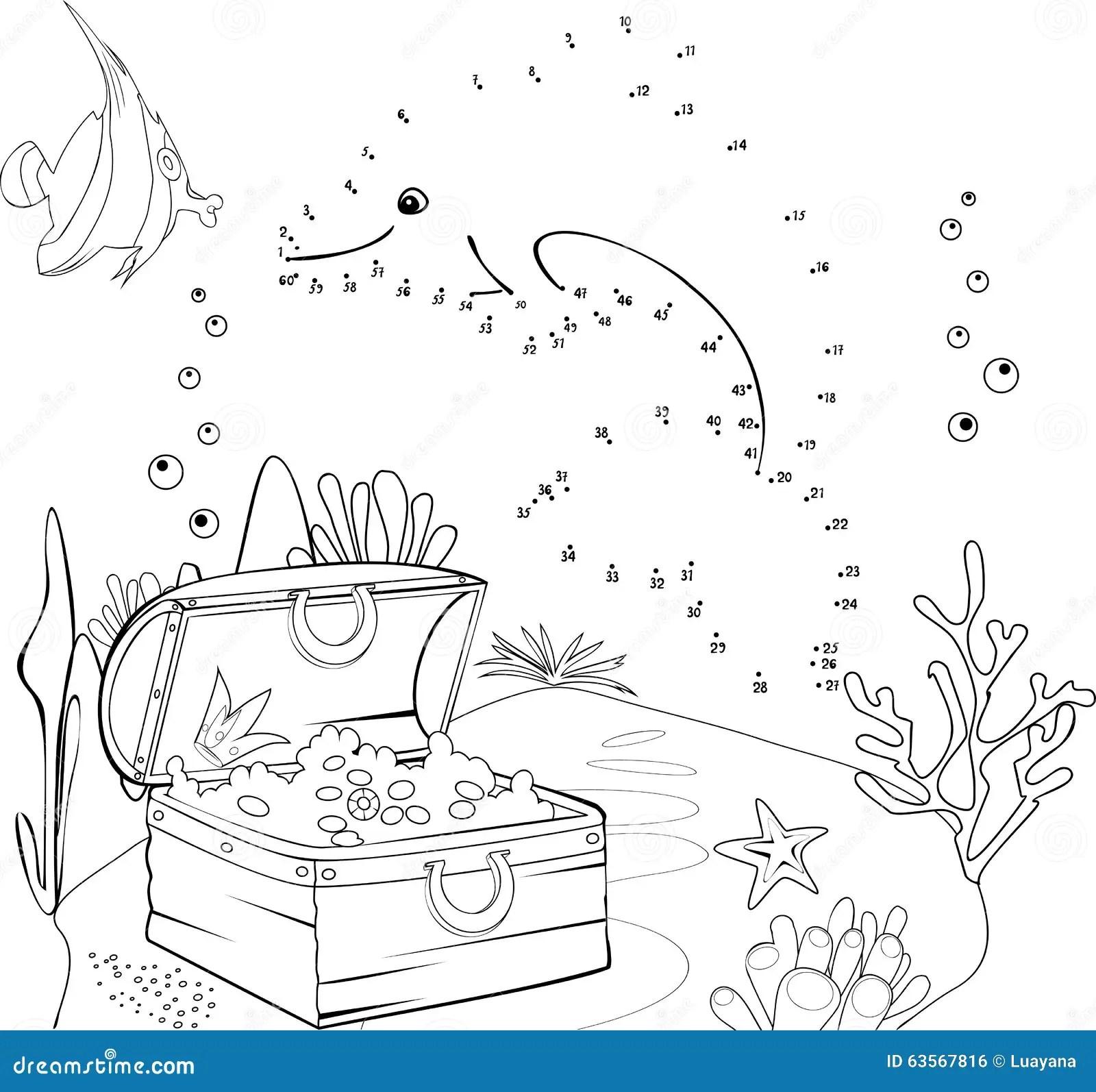 Verbind De Punten Vector Illustratie Illustratie Bestaande Uit Dolfijn