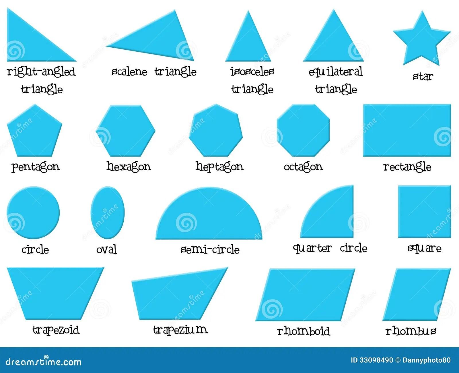Verschiedene Formen Vektor Abbildung Illustration Von