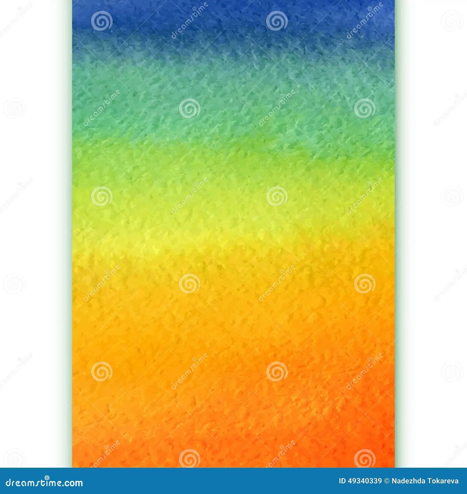 Vertical Watercolor Rainbow Gra Nt Background Stock