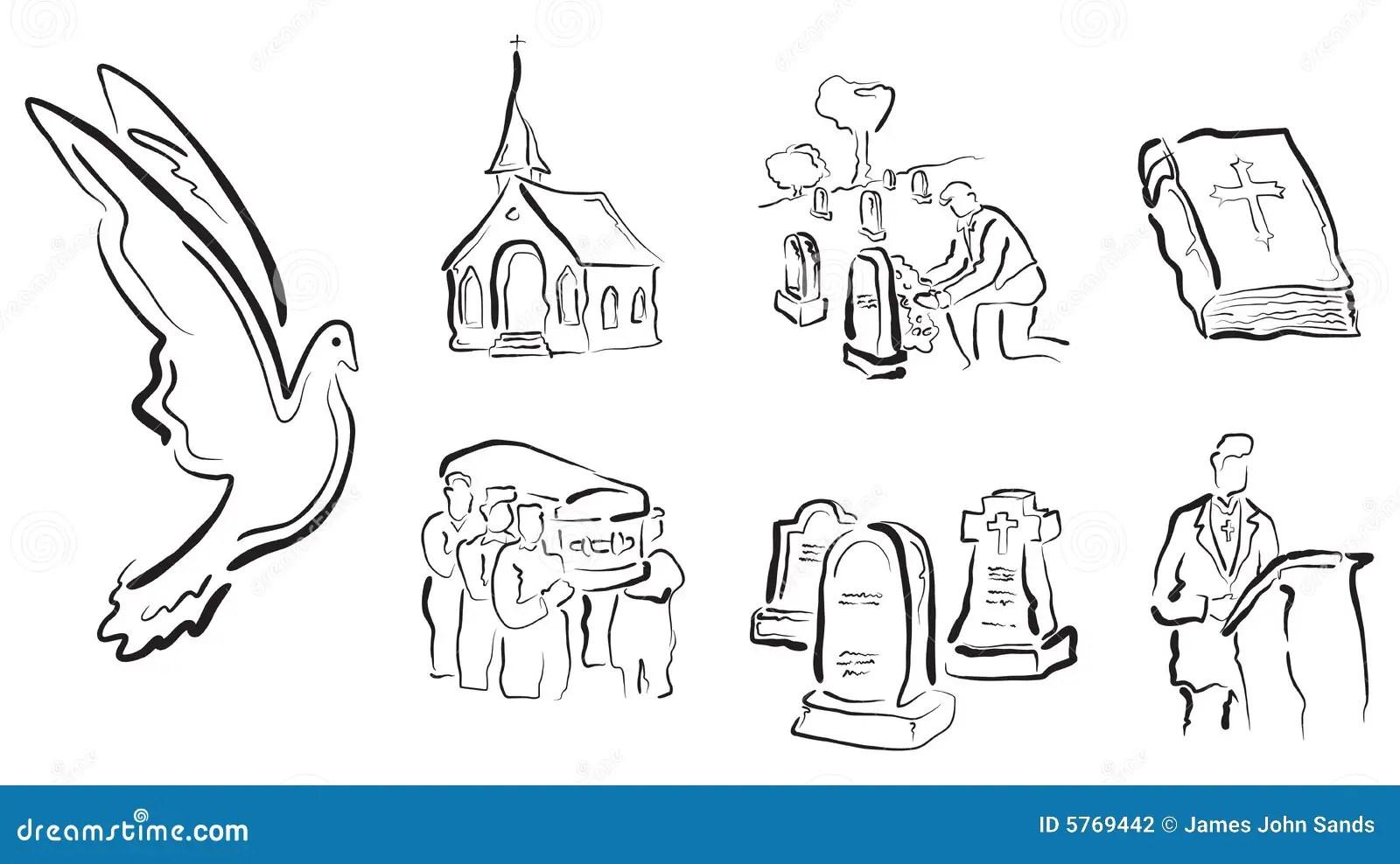 Vetores Religiosos Amp Do Funeral Ilustracao Do Vetor
