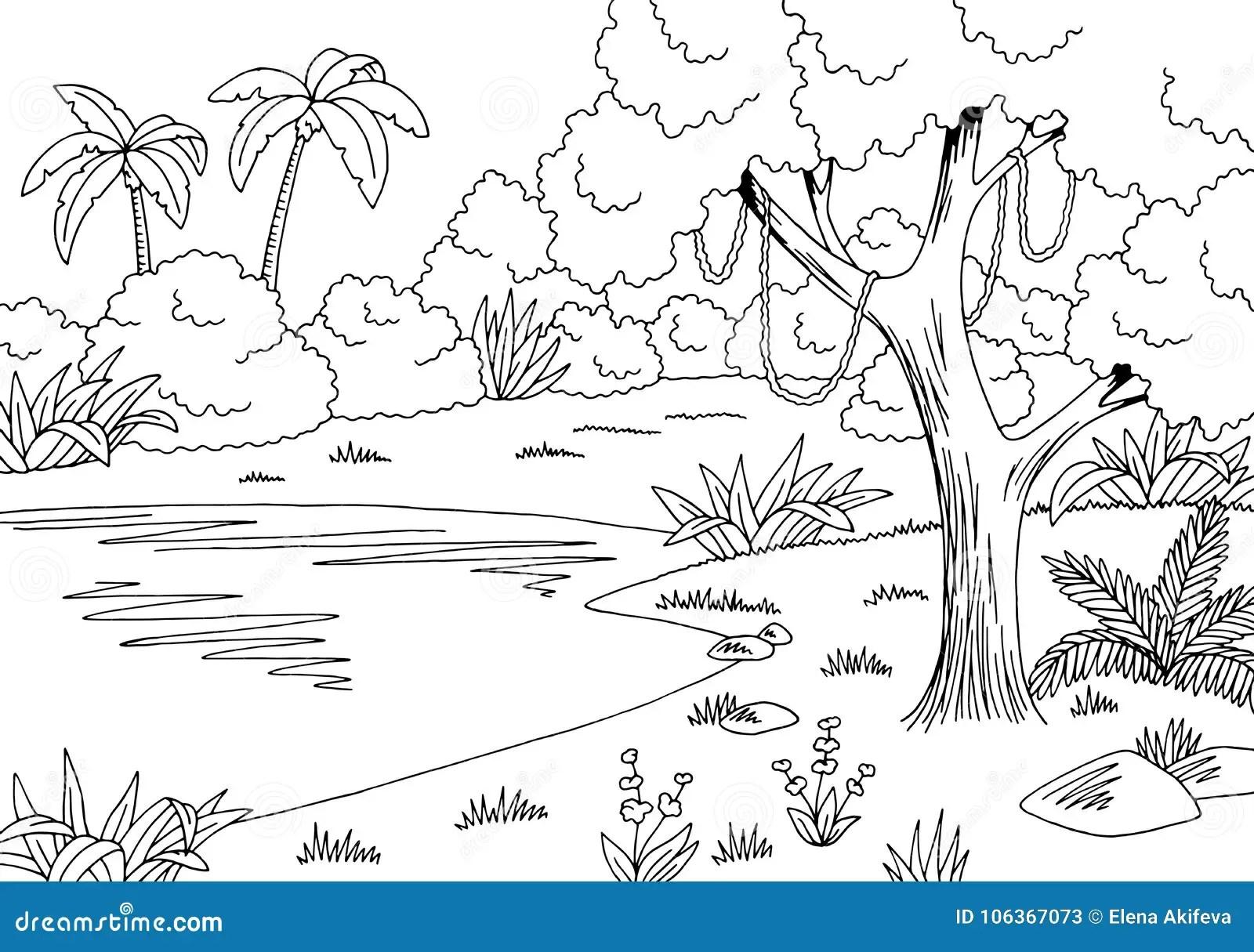 Vettore Bianco Nero Grafico Dell Illustrazione Di Schizzo