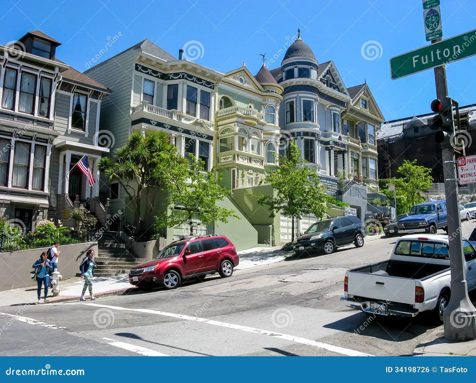 Street People Houses Alamo Square San Francisco