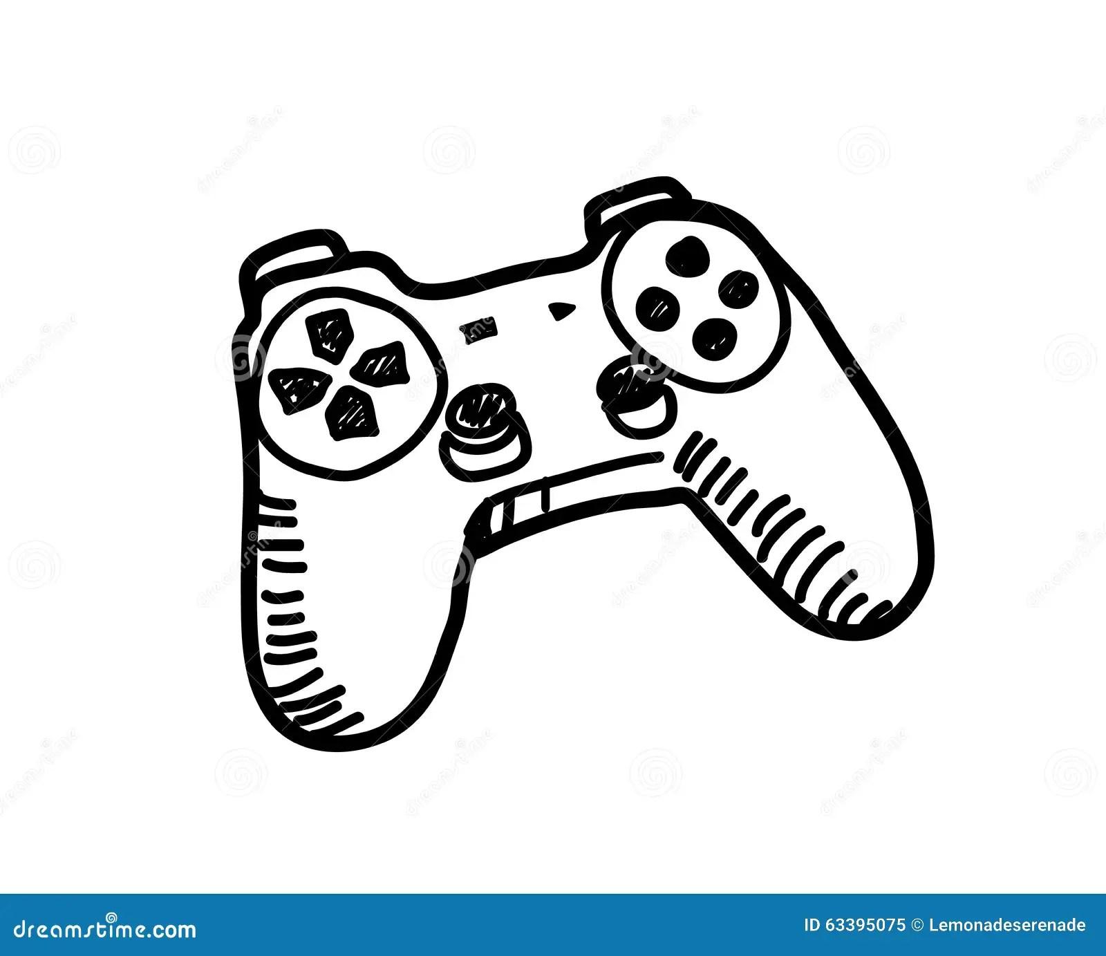 Video Game Controller Doodle Stock Vector