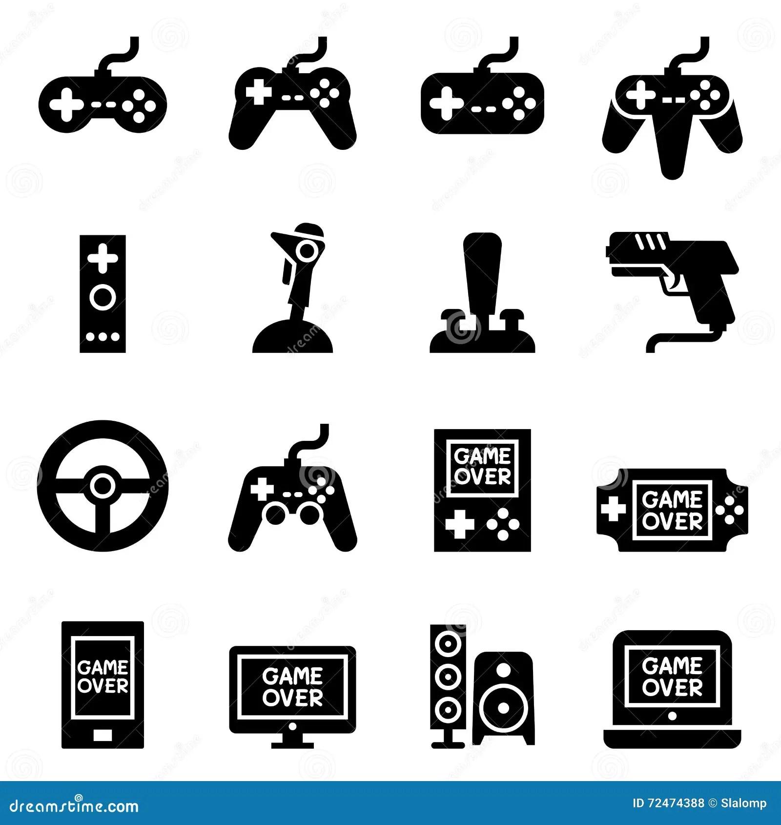 Video Game Controller Joystick Gamepad Icon Stock