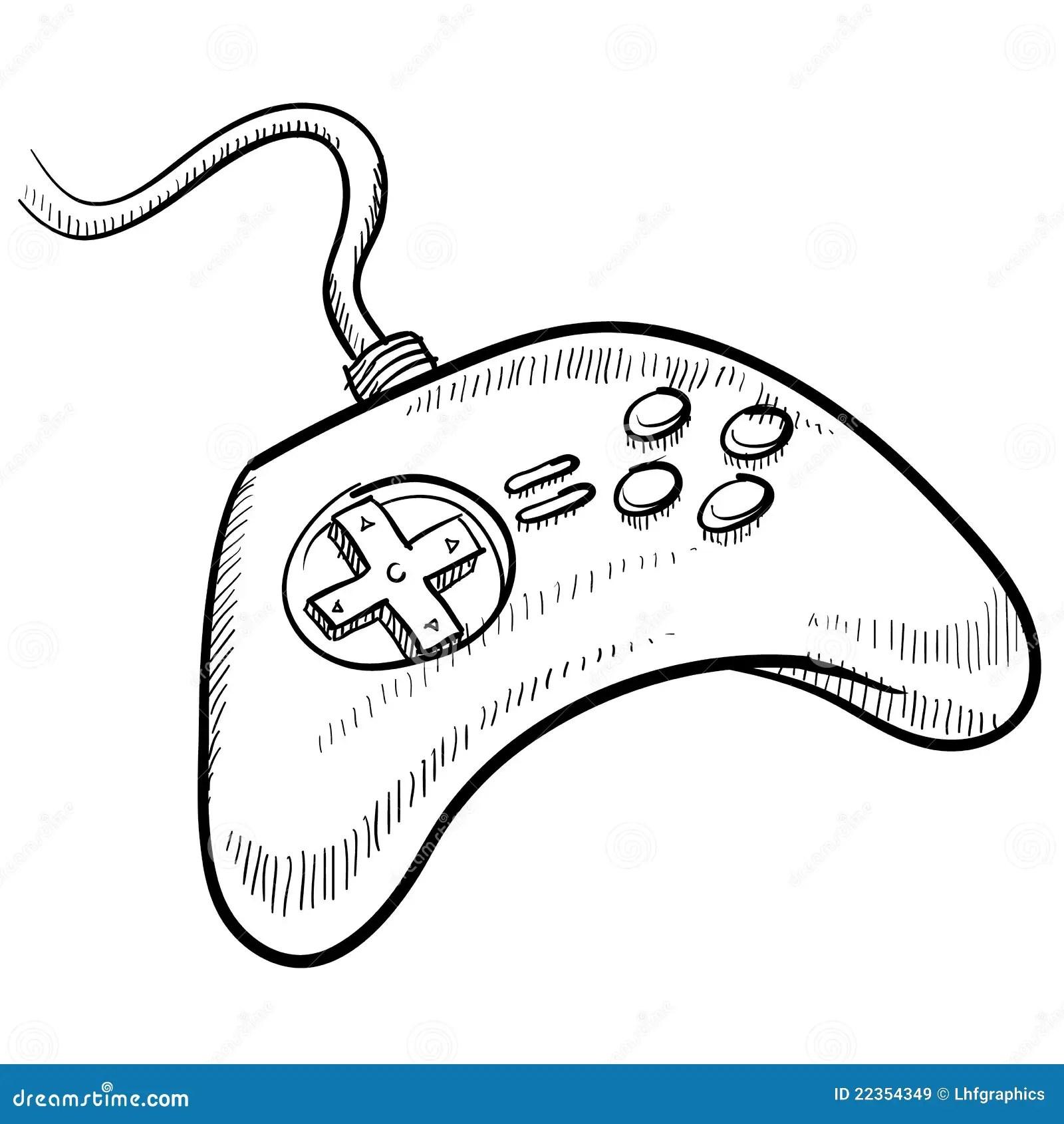 Video Game Controller Sketch Stock Vector