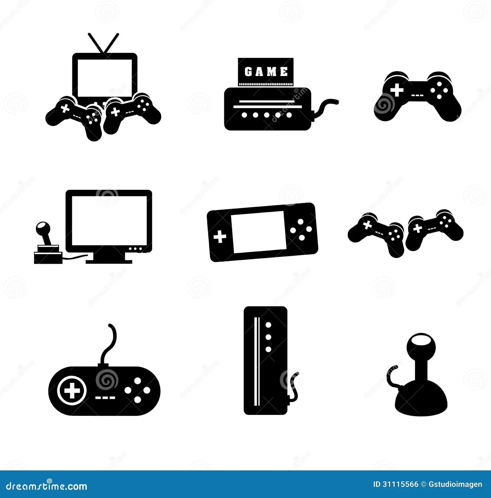 Videospelletjes Vector Illustratie Illustratie Bestaande