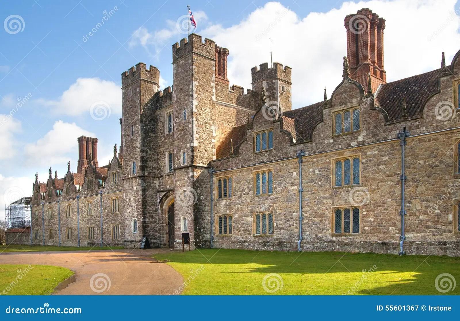 vieux xveme siecle anglais de manoir de sevenoaks maison anglaise classique de cote de pays le r u photographie editorial image du siecle sevenoaks 55601367
