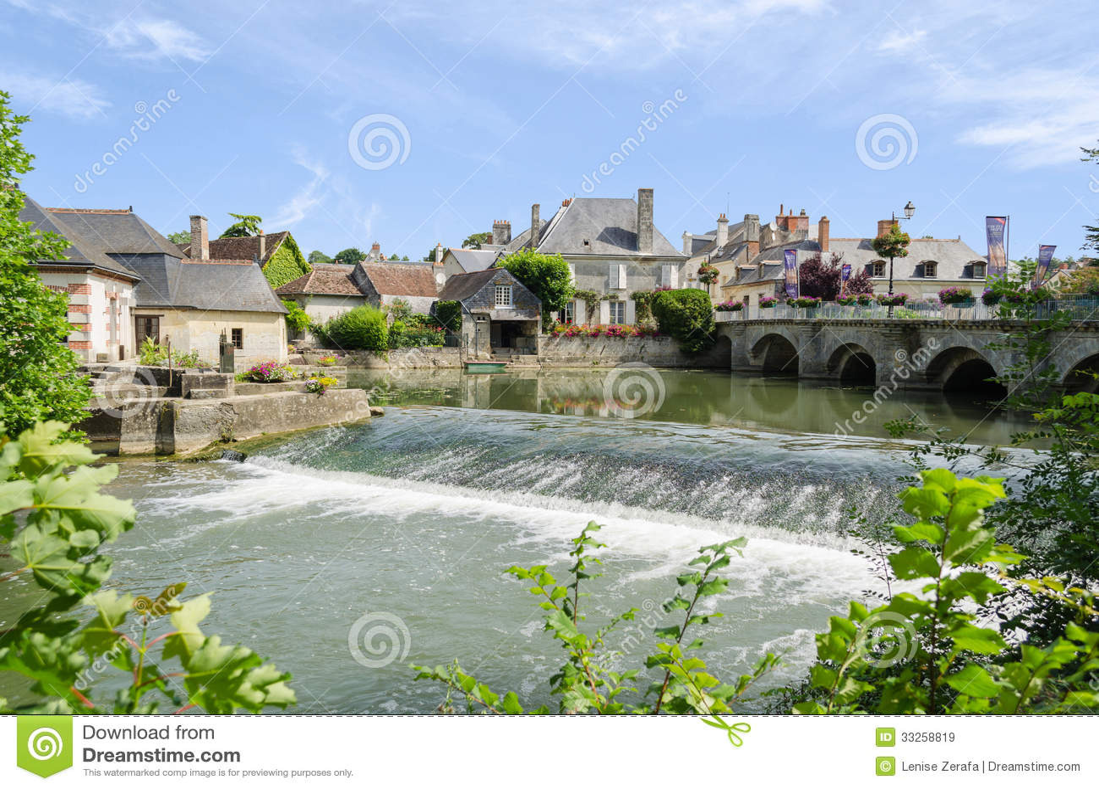 Village D Azay Le Rideau France Image Stock